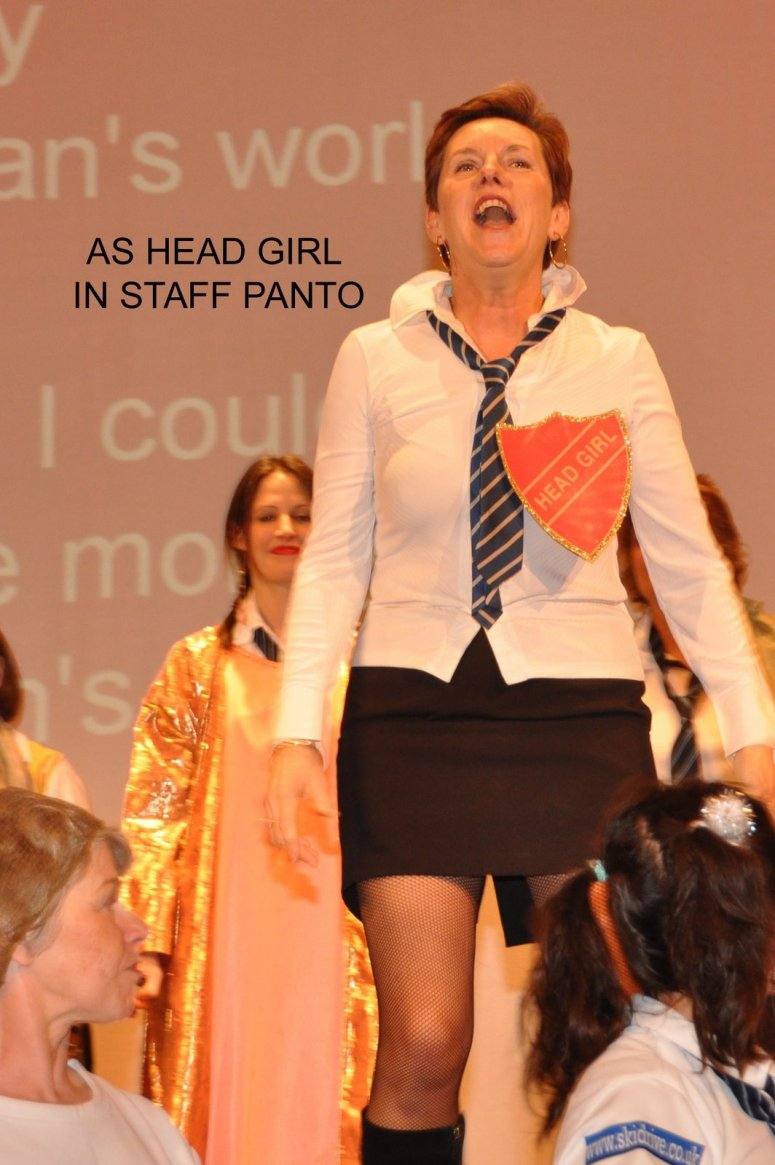 21 as head girl in staff panto 09
